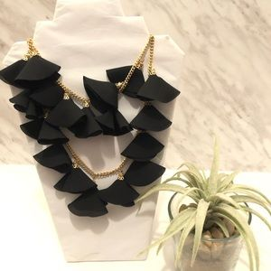 Natasha Black Oscar Tulip Statement Necklace